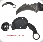 Mini Dagger  de cou lame de 5 cm