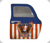 Decor mural vintage 3D  portière/ porte Aigle USA  avec miroir