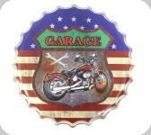 Capsule Métal Vintage Garage Moto USA
