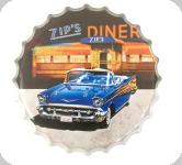 Capsule Métal Vintage  Cadillac Zip's Diner