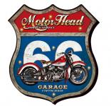 Enseigne vintage 3D à Led  Ecusson R66  Motor Head