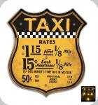 Enseigne vintage 3D à Led  Ecusson R66  Taxi New York