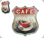 Enseigne vintage 3D à Led  Ecusson R66  Cafe