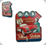 Enseigne vintage 3D à Led  Gas Filling Station