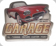 Enseigne vintage 3D à Led  Garage Mechanic on Duty
