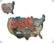 Enseigne vintage 3D à Led  Get You Kicks Voiture