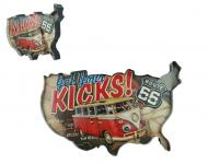 Enseigne vintage 3D à Led  Get You Kicks Combi WW