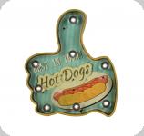 Enseigne vintage 3D à Led / Hot Dogs