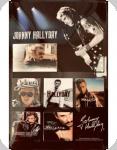 Plaque métal publicitaire vintage  JOHNY HALLIDAY  de 60 x 40 XL