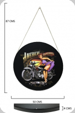 Cadre rond Vintage American Classics Pin up