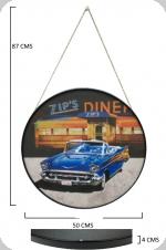 Cadre rond Vintage  Cadillac Zip's Diner