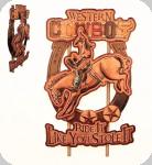 Decor mural vintage Western 3D  Panneau Cowboy Rodéo