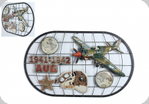 Decor mural militaria vintage 3D 