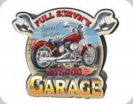 Enseigne vintage 3D à Led  Full Service Hot Rod Garage
