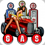 Enseigne vintage 3D à Led  Gas Pompe essence Pin Up