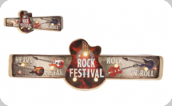 Enseigne vintage 3D à Led  Rock Festival