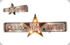 Enseigne vintage 3D à Led  Rock Star