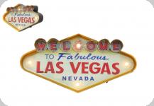 Enseigne vintage 3D à Led  Welcom Las Vegas Nevada