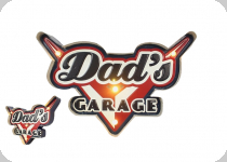 Enseigne vintage 3D à Led  Dad's Garage