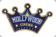 Enseigne vintage 3D à Led  Hollywood Cinema