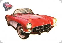 Enseigne vintage 3D à Led  Voiture Rouge