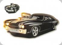 Enseigne vintage 3D à Led  Voiture Noire