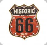Enseigne vintage 3D à Led  Logo R66 Historic