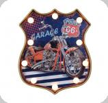 Enseigne vintage 3D à Led  Logo R66 Garage Moto