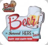 51  Enseigne vintage 3D à Led / Beer