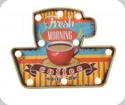 Enseigne vintage 3D à Led  Fresh Morning