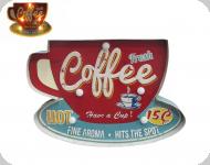 Enseigne vintage 3D à Led  Coffee Fresh