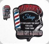 Plaque métal Barber Shop