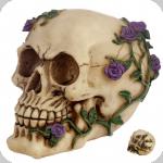 Crâne tête de mort  Rose Multiple Violette