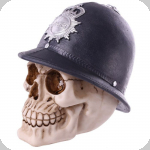 Crâne tête de mort police London