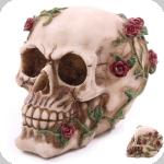 Crâne tête de mort  Rose Multiple Rouge