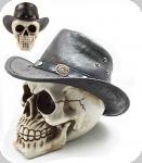 Crâne tête de mort cowboy