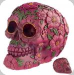 Crâne tête de mort  Jour des Mort Fleur Rose