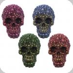 Crâne tête de mort  aux couleurs métaliique