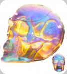 Crâne tête de mort Lumineux à Led  Effet Iridescent PM