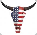 Crane de Vache résine drapeau USA