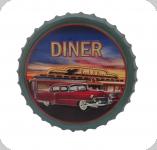 Capsule Métal relief  Diner voiture rouge