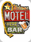 Enseigne vintage 3D à Led  Welcom Motel