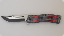 Couteau pliant vague Camouflage   lame de 10 cm