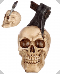 Crâne tête de mort hache