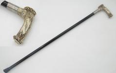 Canne épée corne decoré aigle