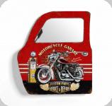 Decor mural vintage 3D  portière / porte Motorcycle Garage avec miroir