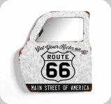 Decor mural vintage 3D portière  porte Route 66 Main Street avec miroir