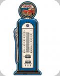 Thermomètre Vintage Original  Pompe Bleu Garage de 48 cm