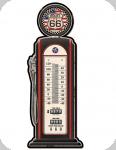 Thermomètre Vintage Original  Pompe Noire Route 66 de 48 cm