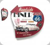 Enseigne vintage 3D / Diner route 66